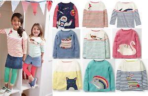 Mini Boden top shirt  girls applique long sleeve breton age 2 - 10 years NEW