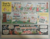 Kellogg's Cereal Ad: Small Fry At The Picnic ! from 1947 Size: 11 x 15 inches