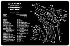 GUN CLEANING BENCH MAT TEKMAT for BROWNING HI POWER 9MM AUTOMATIC UK ARMY PISTOL