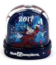 NEW Disney World Sorcerer Mickey Mouse Dated 2017 Plastic Snow Globe Snowglobe