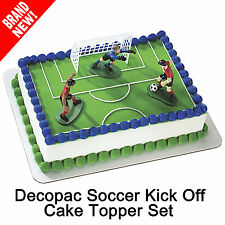 DecoPac Soccer Players Kick Off Boys Cake Topper Decoration Kit