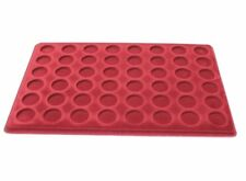 RED COIN COLLECTION TRAY PO-48 FOR £2, 50p COINS  - COMPARTMENT ø 27mm UK