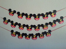Mickey Mouse Happy Birthday PERSONALIZED Banner. Free shipping