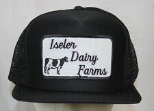 Vtg Iseler Dairy Farms Snapback Mesh Hat Trucker Farmer Cap Michigan Unworn