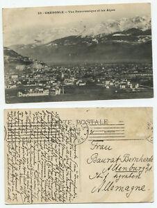 10089 - Grenoble - Vue panoramique et les Alpes - AK, gelaufen 31.3.1913