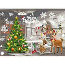 Noël Sticker Autocollant Mural Décoration Verre Fenêtre Vitre Boutique Maison NF