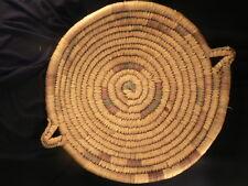 ANTIQUE ESKIMO Alaska Handmade Huge Basket Tray Mint Condition Estate Beautiful