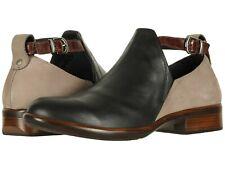 Naot Women's Kamsin Comfort Bootie - Blk Raven/Stone/Brown Size 41 NIB