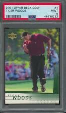New listing 2001 Upper Deck Golf #1 Tiger Woods RC Rookie Mint PSA 9