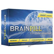 BRAINPILL Focus Supplement BOOST Memory Cognizin Synapse factor Brain Pill