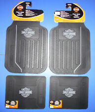 Harley Davidson Front Rear Rubber Elite Floor Mats Logo 4 Pcs Set Truck SUV Car