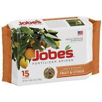 Jobes 01612 Fruit & Citrus Tree Fertilizer Spike, 9-12-12, 15-Pack