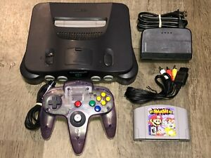 Nintendo 64 Console System w/ Smash Bros. N64 Complete Works Great Condition OEM