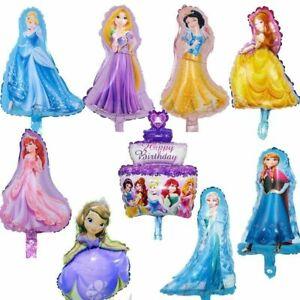 """18"""" Disney Princess Balloons Birthday Party Elsa Aana Cinderella Rapunzel Belle"""