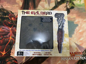 The Evil Dead Anthology Complete Blu-Ray Box Set With Dagger Prop In Box Blue