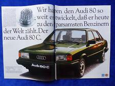 Audi 80 C Typ B2 - Werbeanzeige Reklame Advertisement 1982 __ (352
