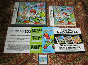 Yoshi's Island DS Nintendo DS COMPLETE IN CASE AUTHENTIC GAME RARE TESTED NES