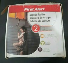 First Alert Fire Escape Ladder 2-Story 1125-lb Steel Slip Resistant Rungs Used