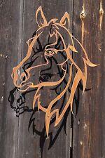 Edelrost Wandbild Shilouette Pferdekopf Garten Wandschmuck Rost Deko Pferde