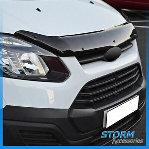 STX BONNET GUARD - BUG/ STONE PROTECTOR – BLACK FOR FORD TRANSIT CUSTOM 12-17