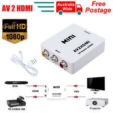 1080p Composite AV CVBS 3RCA to HDMI Converter Video Cable Upscaler