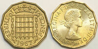 1953 to 1967 Elizabeth II Brass Threepence Your Choice of Date  / Year Multibuy