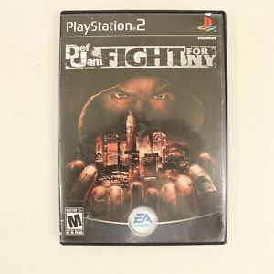 Def Jam Fight For NY PS2 Game Rare Excellent Condition Complete