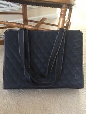MARY KAY LARGE TRAVEL PURSE TOTE BAG BLACK QUILTED ~ Consultant ~