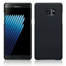 Outer Rubberised Hard Plastic Back Case Cover Black For Samsung Galaxy Note 7