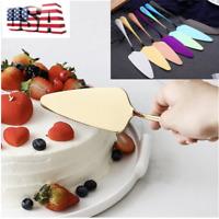 US Cake Knife Server Set Stainless Steel Wedding Anniversary Parties Tableware