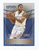 KARL ANTHONY TOWNS 2015-16 CONTENDERS DRAFT PICKS SCHOOL COLORS RC ROOKIE # 24