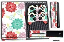 Designer Skin for XBOX ONE 1 Gaming Console +2 Controller Sticker Decals FL