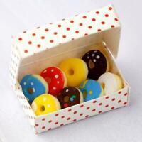 1:12 Puppenhaus Miniatur Mini Eine Schachtel Donuts Essen Spielzeug Zubehör E4F0