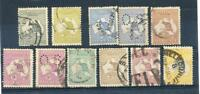 "AUSTRALIA KANGAROO Selection 3rd Watermark 2d to 5/- including perf ""OS"" used"