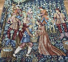 Grape Harvest Les Vendanges French Wall Tapestry Fabric Made In France 80%Cotton