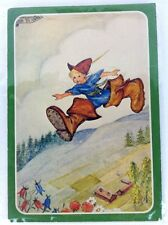 Vtg Aina Stenberg Postcard Elf Print Italy Susy Card Grako signed Obscure