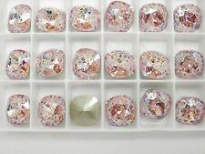 Light Rose White Patina F (12mm) Swarovski 4470 Cushion Cut Stone