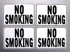"""NO SMOKING"" WARNING SIGN, 4 SIGN SET, METAL"