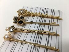 Anthropologie Antique Style Hair Pins Barrettes Bobby Pins Stones NWT