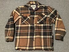 Vintage Woolrich Plaid Jacket Shirt Sz S Wool Pockets Lining