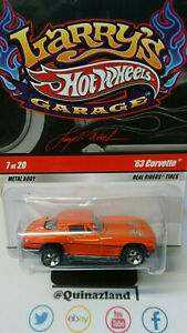Hot Wheels Larry's Garage '63 Corvette orange bulle fendue   (CP30)