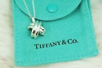 """AUTHENTIC Tiffany & Co. Sterling Silver Signature """"X"""" Necklace 16"""" (#1171)"""