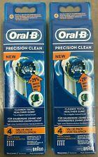 8 BRAUN ORAL B PRECISION CLEAN TOOTHBRUSH REPLACEMENT BRUSH HEADS EB20-4 8X