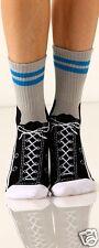 Foot Traffic Sneaker Gray Black White Slipper Non Skid Socks Ladies Socks New