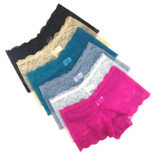 SEXY Ladies Lace French Knickers Womens Boy Shorts Brief 3 Pack XS S M L XL XXL