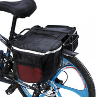 Waterproof Cycling Bicycle Bike Rear Rack Double Pannier Storage Organize Bag ZY