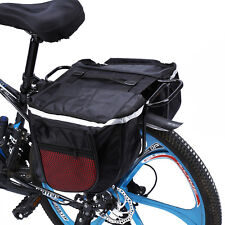 Waterproof Cycling Bicycle Bike Rear Rack Double Pannier Storage Organize Bag ZY