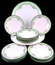 "JP LIMOGES JEAN POUYAT ART NOUVEAU 12  DESSERT PLATES & SILESIA 10.5"" CAKE PLATE"