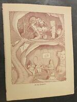 At the Dentist's - May Gibbs 1947 Book Print