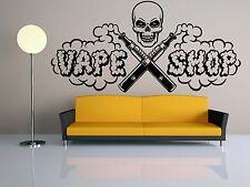 Wall Room Decor Art Vinyl Sticker Mural Decal E Cig Vape Vaping Shop Logo FI949
